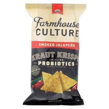 Farmhouse Culture Organic Probiotic Kraut Krisps - Smoked Jalapeno - Case of 12 - 5 oz