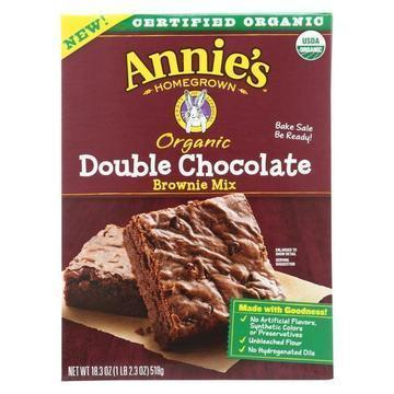 Annie's Homegrown Organic Double Chocolate Brownie Mix - Case of 8 - 18.3 oz.