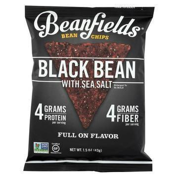 Beanfields - Bean and Rice Chips - Black Bean With Sea Salt - Case of 24 - 1.50 oz.