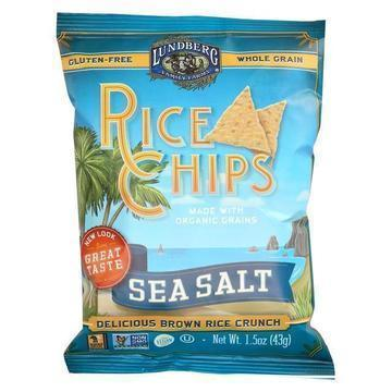 Lundberg Family Farms Rice Chips - Sea Salt - Case of 24 - 1.5 oz.