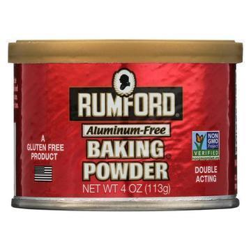 Rumford - Baking Powder - Aluminum-Free - Case of 24 - 4 oz.