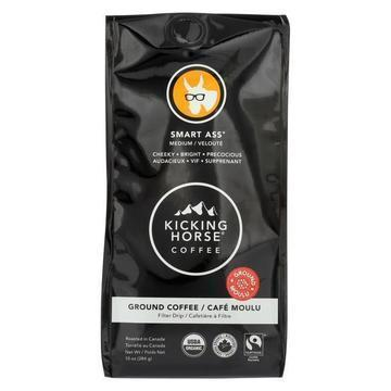 Kicking Horse Ground Coffee - Smart Ass - Case of 6 - 10 oz.