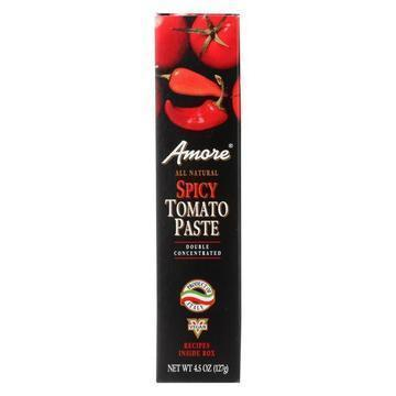 Amore - Tomato Paste - Spicy - Case of 12 - 4.45 oz.