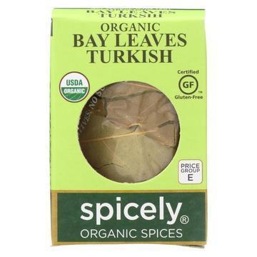 Spicely Organics - Organic Bay Leaves - Turkish Whole - Case of 6 - 0.1 oz.