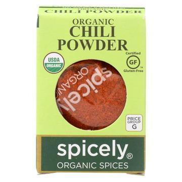 Spicely Organics - Organic Chili Powder - Case of 6 - 0.45 oz.