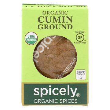 Spicely Organics - Organic Cumin - Ground - Case of 6 - 0.45 oz.