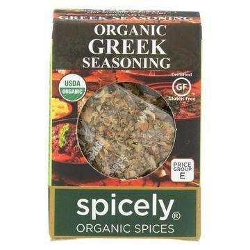 Spicely Organics - Organic Greek Seasoning - Case of 6 - 0.2 oz.