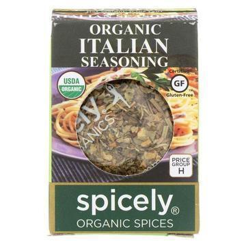 Spicely Organics - Organic Italian Seasoning - Case of 6 - 0.1 oz.