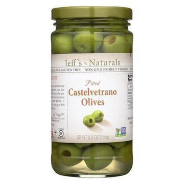 Jeff's Garden - Castelvetrano Olives - Pitted - Case of 6 - 5.5 oz.