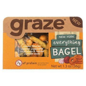 Graze - Snack Mix - New York Everything Bagel - Case of 6 - 1.3 oz.