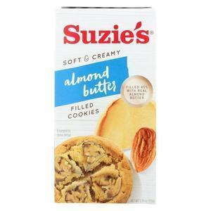 Suzie's Filled Cookies - Almond Butter - Case of 12 - 5.29 oz