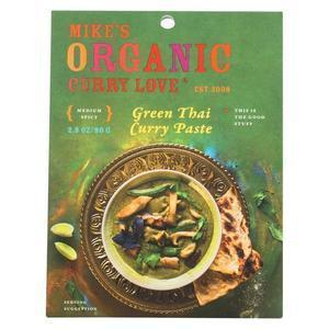 Mike's Organic Curry Love - Organic Curry Paste - Green Thai - Case of 6 - 2.8 oz.