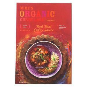 Mike's Organic Curry Love - Organic Curry Simmer Sauce - Red Thai - Case of 6 - 8.8 fl oz.