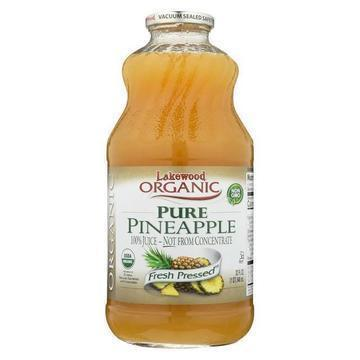 Lakewood - Organic Juice - Pure Pineapple - Case of 6 - 32 fl oz.