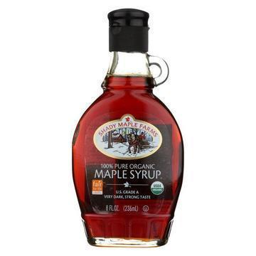 Shady Maple Farms Maple Syrup - Organic - Very Dark - Strong - Case of 12 - 8 fl oz