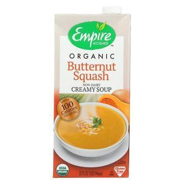 Empire Kosher - Organic Soup - Creamy Butternut Squash - Case of 12 - 32 fl oz.