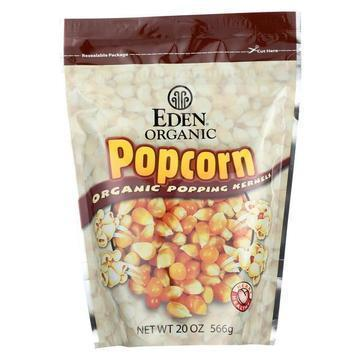 Eden Foods 100% Organic Yellow Popcorn - Case of 12 - 20 oz
