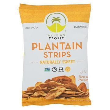 Artisan Tropic Plantain Strips - Naturally Sweet - Case of 12 - 4.5 oz.
