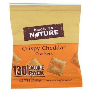 Back To Nature Grab N Go Cheddar Crackers - 1 oz - Case of 100