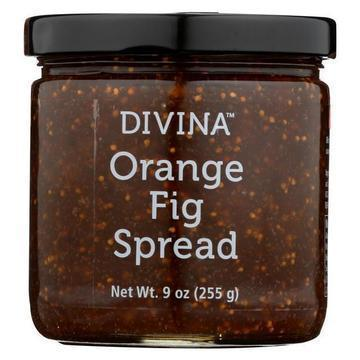 Divina - Spread - Orange Fig - Case of 12 - 9 oz