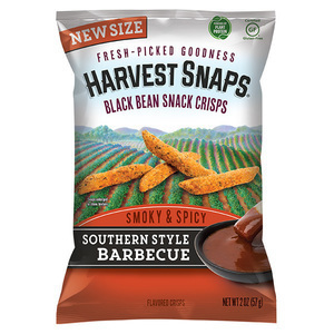 Southern Style Barbecue Black Bean Snap Crisps