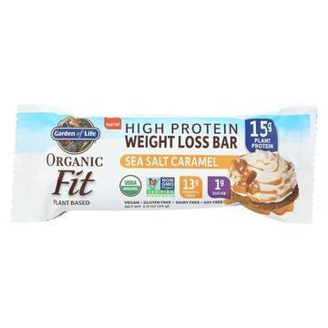 Garden Of Life - Fit High Protein Bar Sea Salt Caramel - Case of 12 - 1.9 OZ