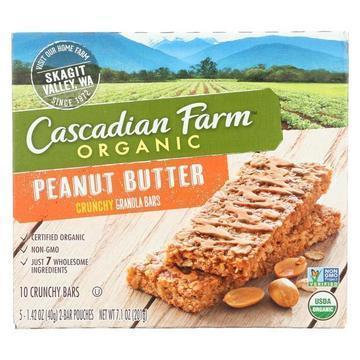 Cascadian Farm - Crunchy Granola Bars - Peanut Butter - Case of 12 - 7.1 oz.