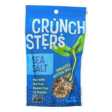 Crunchsters - Sprouted Protein Snack - Sea Salt - Case of 6 - 4 oz.