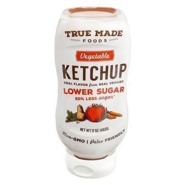 True Made Foods Ketchup - Vegetable - Less Sugar - Case of 6 - 17 oz