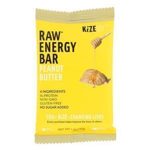 Kize Concepts - Energy Bar Raw Peanut Butter - Case of 10-1.6oz