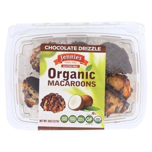 Jennie's Organic Macaroon - Chocolate Drizzle - Case of 12 - 8 oz.