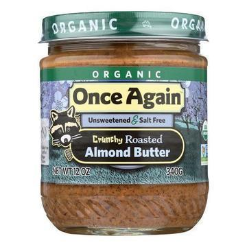 Once Again Organic Crunchy Almond Butter  - Case of 6 - 12 OZ