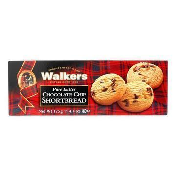 Walkers' Traditional Scottish Shortbread With Added Luscious Chunks Of Smooth Dark Chocolate  - Case of 12 - 4.4 OZ