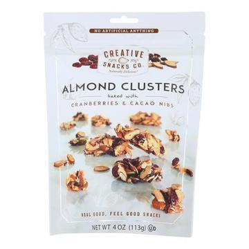 Creative Snacks - Almond Clusters - Cranberry and Cacao - Case of 12 - 4 oz