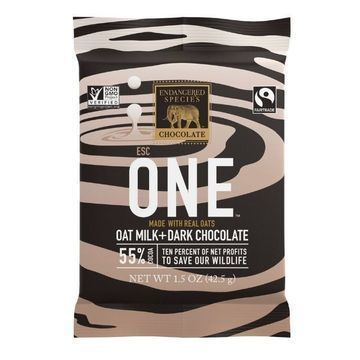 Endangered Species Oat Milk and Dark Chocolate One Bars